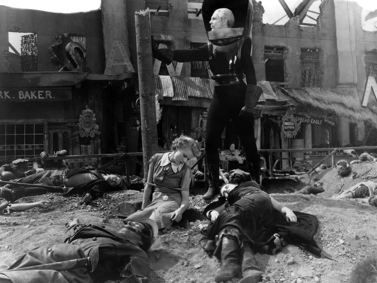 PLAUGES, THINGS TO COME, 1936 FILM, LEPERS                     INFEcTION
